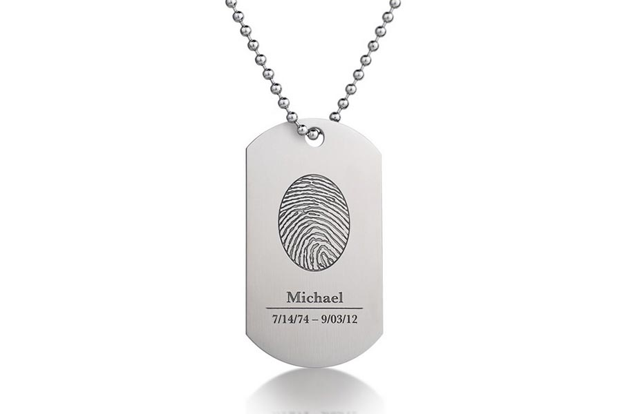 Fingerprint Tag Cremation Jewelry